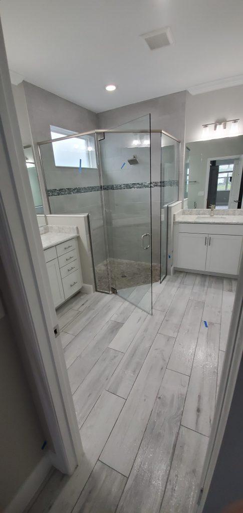 Anti slip treatment in shower and bathroom floor. Daytona Beach florida.