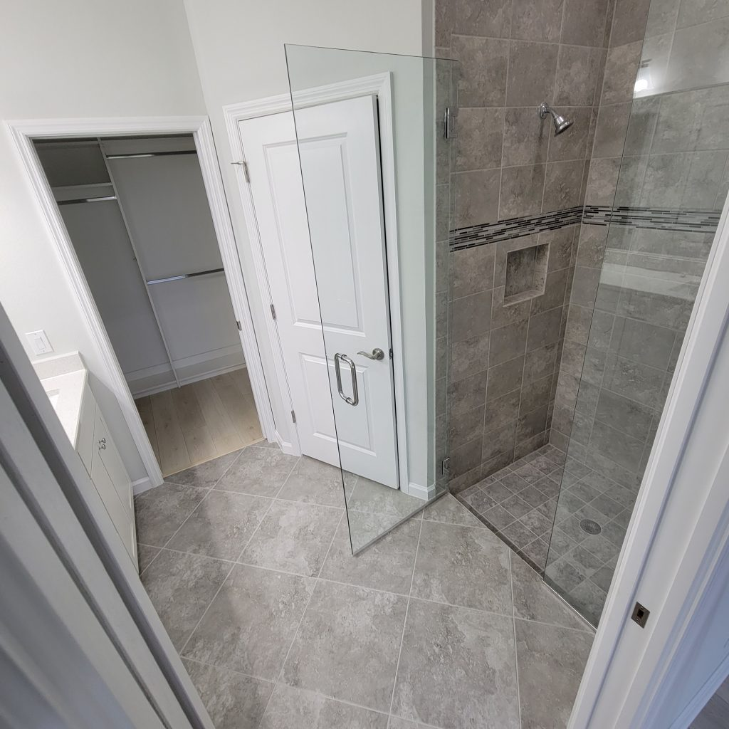 Slippery bathroom tiles. Anti slip treatment.
