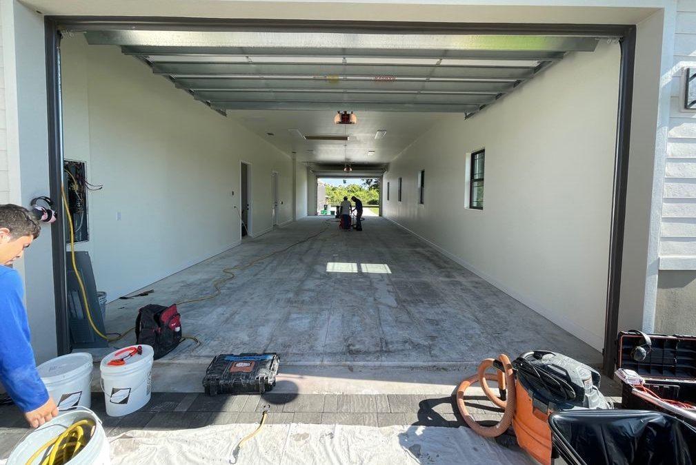 garage floor flake epoxy system